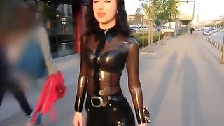 Hottest Japanese girl in Incredible Latex, Foot Fetish JAV video