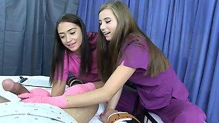nurse draining balls