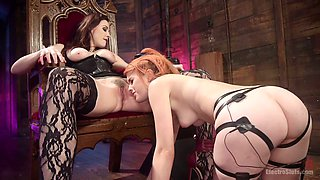 Spanish babe Amarna Miller is punished by horny mistress Chanel Preston