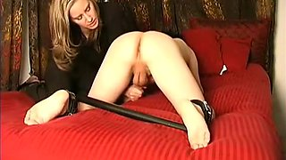 Handjob With Spread Legs And Creamy Cumssexy  bdsm bondage slave femdom domination