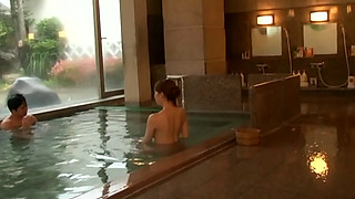 Wakana Steals Another's Lover In Japanese Public Bath