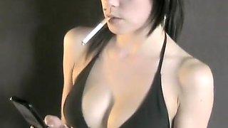 Incredible amateur Smoking, Solo Girl porn clip