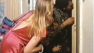 Insatiable French ladies in one bedroom having classic orgy