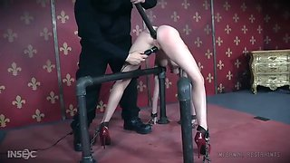chained ashley lane gets her ass drilled hard and hit with electricity