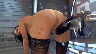 Squirting Orgasm on a Fucking Machine