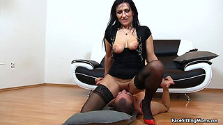 Mature Face Sitting on her Slave - Marta