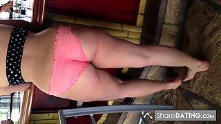 Nice fat Arab ass in bikini 2