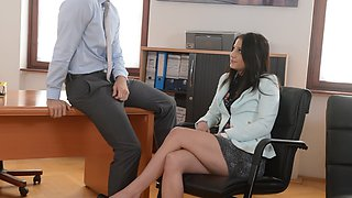 Secretary fucks her big cocked boss