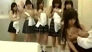 Alluring Japanese Schoolgirls Putting Their Lovely Bodies O