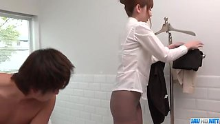 Great cock sucking in the shower with erotic Yui Hatano