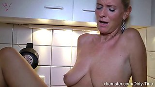 Double creampie from young neighbor&#039s son