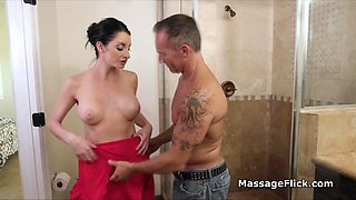 Sharing masseuse wife with the boss for promotion