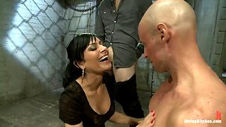 devient mistress has fun with two of her slaves