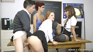 ella hughes, shona river and zoe doll fucking new student