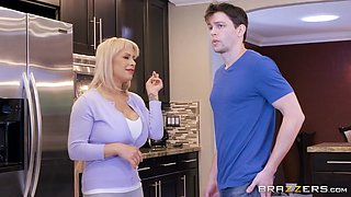 stepmom gets her huge tits out