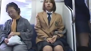 JAPANESE SCHOOLGIRL GROPED ON TRAIN