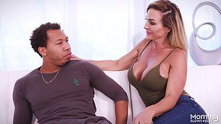 Aubrey Black wants to show off her amazing oral skills to a black hunk