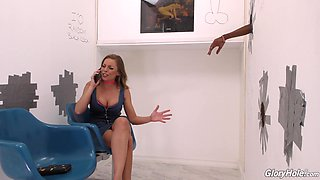 Big load of black dick makes stunning Britney Amber moan loudly