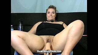 BBW PAWG Creating a Creampie With Her Sex Machine (Part 1)