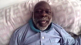 Black Grandpa Dick Suck by my Ex Girlfriend and her Daughter