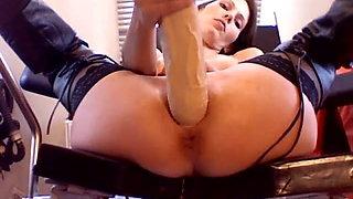 Long Dildo pussy insertion
