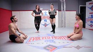 Busty charlotte cross mixed nude wrestling vs jake adams