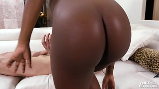 Magical sixty-nine with his pure ebony hotness Noemie Bilas