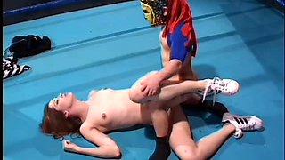 Winner of midget wrestling fucks hot redhead