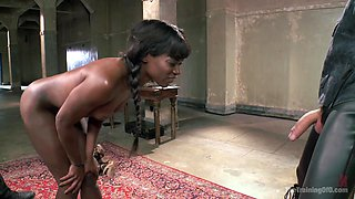 Severe Reverse Cowgirl Training Ana Foxxx, Day One - TheTrainingofO