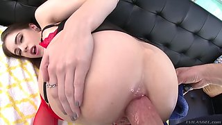 anna de ville's ass stretched with a monster love rod