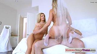 stepmom fucked hard in her wedding dress