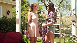 Cute Audrey Royal and her hot friend enjoy pleasing one another