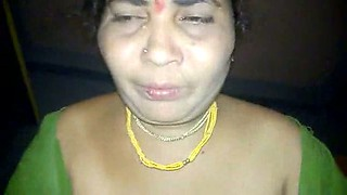 Rough pounding for mature Indian aunty in missionary position