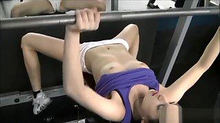 Flashing in public gym
