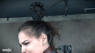 Hairy slave bitch toyed by her master
