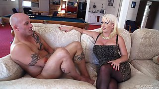 Alura Jenson and her friend get their cunts plowed with a fat dick