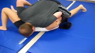 Mixed wrestling maledom