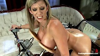 double vaginal penetration by machine for insatiable milf sarah jay