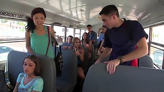 School Bus Driver Comforts Sad Student With His Dick
