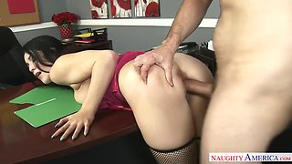 stout in front and back noelle easton works overtime with her big boss