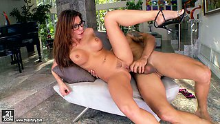 Nasty Alexa Nicole gets massive facialed after getting banged