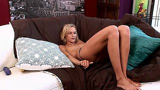 Blonde bitch craves some huge cocks in her pussy