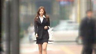 Hottest Japanese model Leila Aisaki in Fabulous Public, Voyeur JAV clip