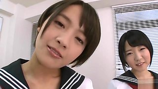 Ai Mukai and Friend Schoolgirl Panty Therapy