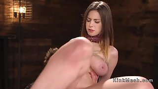 huge natural tits slave gets anal banged