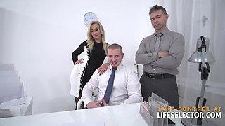 Office secretary tight anal gangbanged hardcore doggystyle