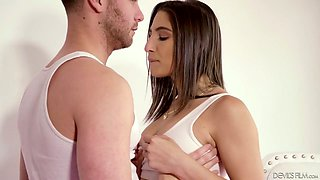 Sex-starved housewife Abella Danger is cheating on her husband with young electrician