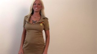 Tattooed Trisha Storm sits on the guy's groin and teases him