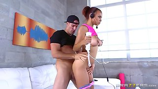 teen slut raven redmond has a hardcore workout with brazzers app on wii