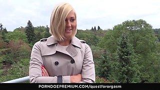 Quest for orgasm czech blonde has orgasmic masturbation
